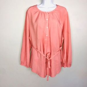Old Navy Top XL Pink Maternity Button Down QK7